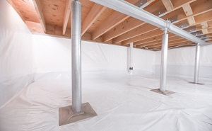 Crawl space structural support jacks installed in Lebanon