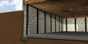 CarbonArmor® carbon fiber foundation wall reinforcement