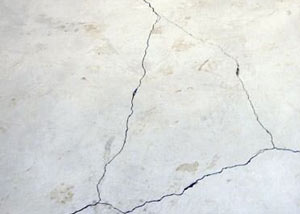 cracks in a slab floor consistent with slab heave in Richmond.